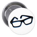 Cool Nerd Glasses in Black & White 7.5 Cm Round Badge
