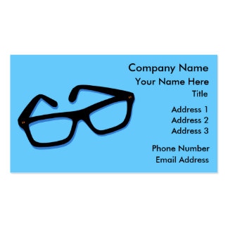 Cool Nerd Glasses in Black & White Business Cards