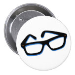 Cool Nerd Glasses in Black & White Pin