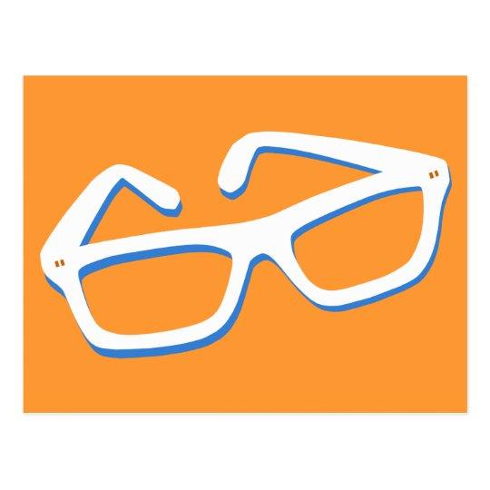 Cool Nerd Glasses Postcard