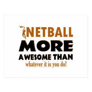 Cool Netball designs Postcard
