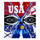 Cool New 2013 USA Swimming Sports Art Big Poster
