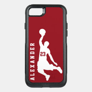 Cool New Sports Red Basketball Player Name OtterBox Commuter iPhone 8/7 Case