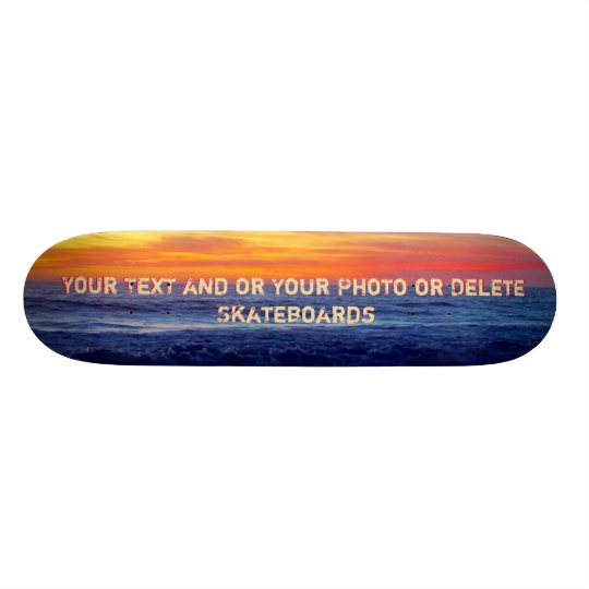 Cool Night Sunset Beach Skateboards Personalised