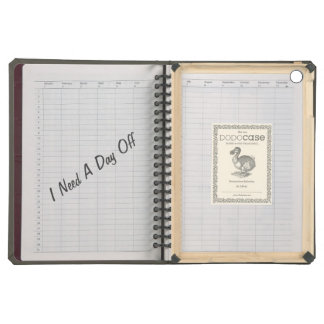 Cool Notebook Texture with Funny Text iPad Air Case
