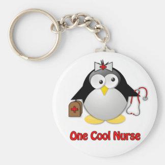 Cool Nurse Basic Round Button Key Ring