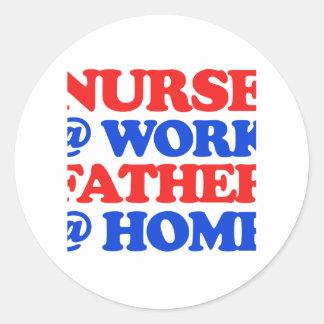 cool nurse designs round sticker