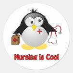 Cool Nurse Round Sticker