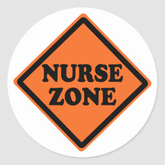 Cool Nurse Zone Classic Round Sticker