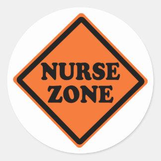 Cool Nurse Zone Round Sticker