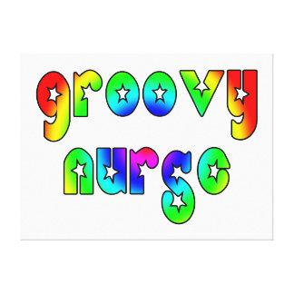 Cool Nurses Birthday Christmas Party Groovy Nurse Canvas Prints