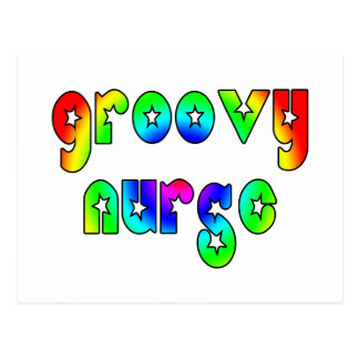 Cool Nurses Birthday Christmas Party Groovy Nurse Postcard