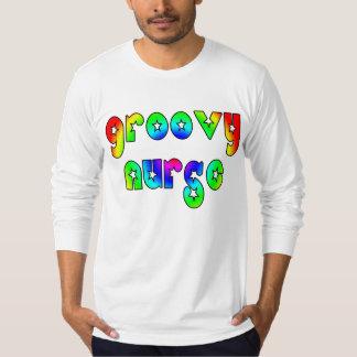 Cool Nurses Birthday Christmas Party Groovy Nurse T-Shirt