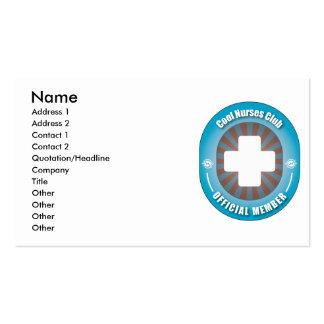 Cool Nurses Club Business Card Templates