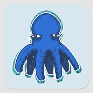 cool octopus sweet cartoon square sticker