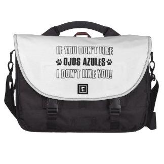 Cool OJOS AZULES cat designs Bag For Laptop