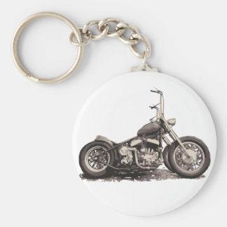 Cool Old Motorbike Basic Round Button Key Ring
