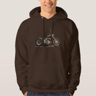 Cool Old Motorbike Hooded Sweatshirt