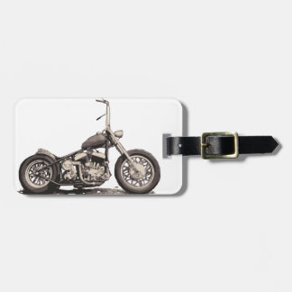 Cool Old Motorbike Travel Bag Tags