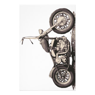 Cool Old Motorbike Stationery