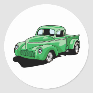 Cool Old Truck Round Sticker