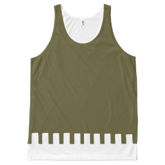 Cool Olive Unique Pattern All-Over Print Tank Top