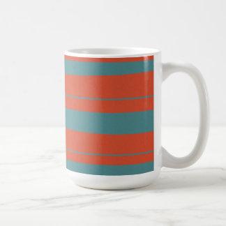Cool Orange and Blue Uneven Stripes Pattern Mug