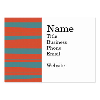 Cool Orange and Blue Uneven Stripes Pattern Pack Of Chubby Business Cards