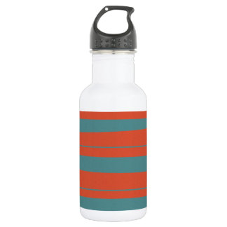 Cool Orange and Blue Uneven Stripes Pattern 532 Ml Water Bottle