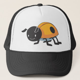 Cool Orange Baby Ladybug Cartoon Trucker Hat