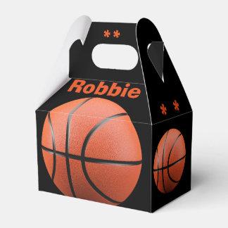 Cool Orange Basketball and Monogram Favor Box