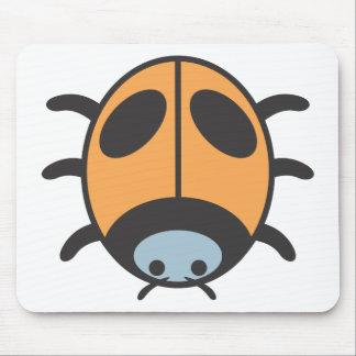 Cool Orange Lady Bug Cartoon Mouse Pad