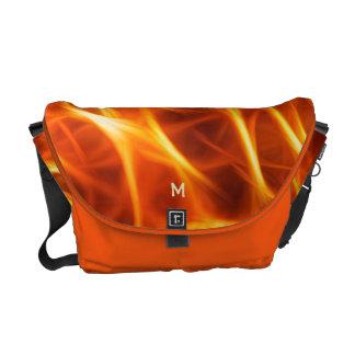 Cool Orange Yellow Flames Fractal Glowing Fractal Commuter Bag