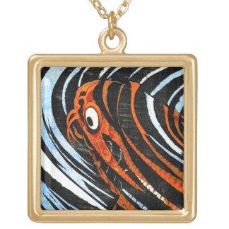 Cool oriental ancient legendary koi fish carp art custom necklace
