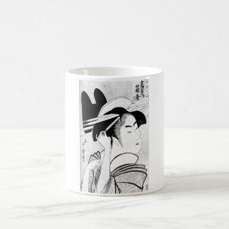 Cool Oriental Black White Geisha Mug