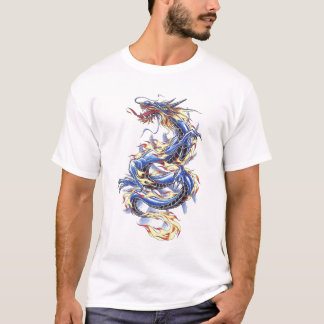 Cool Oriental Blue  Dragon  shirt