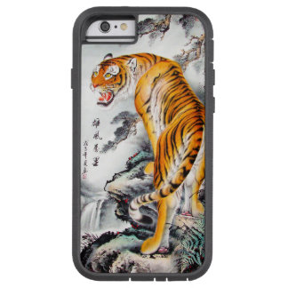 Cool oriental chinese fluffy tiger watercolor ink tough xtreme iPhone 6 case
