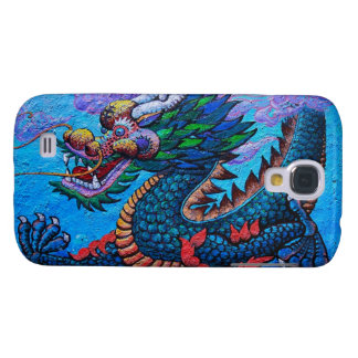Cool oriental chinese oil colourful dragon paint galaxy s4 case