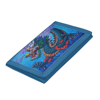 Cool oriental chinese oil colourful dragon paint trifold wallets