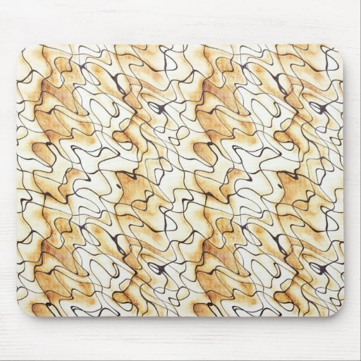 Cool oriental chocolate sand abstract pattern mouse pad