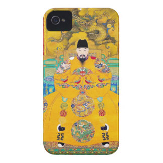 Cool oriental classic chinese woodcut emperor art iPhone 4 cover