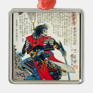 Cool oriental classic japanese samurai warrior art christmas ornament