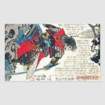Cool oriental classic japanese samurai warrior art rectangular sticker