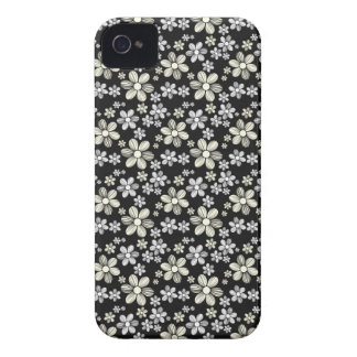 Cool oriental girly daisy flower floral pattern Case-Mate iPhone 4 case