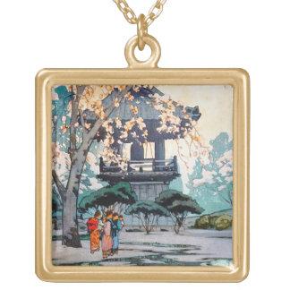 Cool oriental Hiroshi Yoshida Japanese Shrine art Necklace