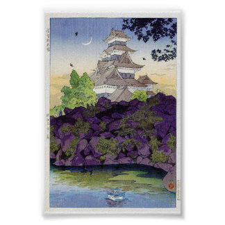 Cool oriental japanese Ancient Castle Palace art Poster
