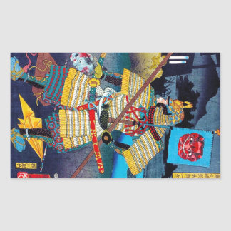 Cool oriental japanese Ancient Legendary General Rectangular Sticker