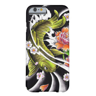 Cool oriental japanese black ink lucky koi fish barely there iPhone 6 case