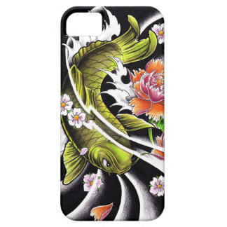 Cool oriental japanese black ink lucky koi fish iPhone 5 case