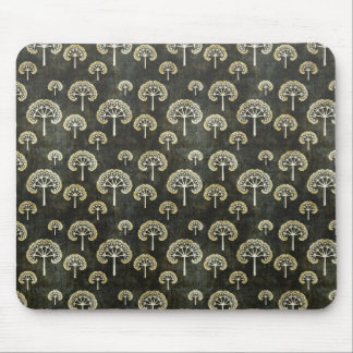 Cool oriental japanese black tree shape pattern mouse pad